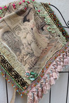 Vintage Gypsy Dancer Tapestry Bag Ethnic Bohemian  by IzzyRoo, $145.73