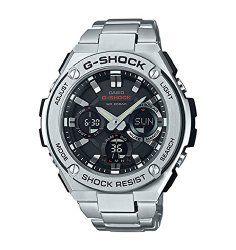 Casio G-Shock G-Steel Black Dial SS Chronograph Quartz Men's Watch GSTS110D-1A