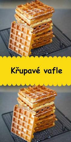Czech Recipes, Croissants, Waffles, Food And Drink, Breakfast, Party, Morning Coffee, Crescents, Crescent Roll