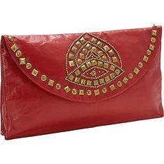 Moyna Handbags Beaded Evening Clutch Red/ Gold - Moyna Handbags Evening Bags