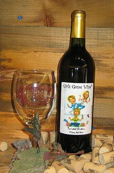 Girls Gone Wine #girlsgonewine Twisted Sisters is our best selling sweet red wine a pomegranate zinfandel with a fun label that pays tribute to our love of yoga & spa!