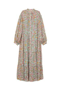 Crinkled long dress - Light blue/Floral - found in store reduced to from Stylish Dress Designs, Stylish Dresses, Casual Dresses, Muslim Fashion, Modest Fashion, Fashion Dresses, Mode Abaya, Mode Hijab, Hijab Stile