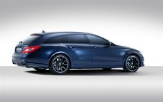 Download wallpapers Mercedes-Benz CLS63 AMG, blue wagon, tuning, blue CLS63, Shooting Break, Mercedes