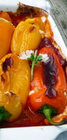 Give this Basil Goat Cheese Stuffed Sweet #MiniPeppers Recipe from Sumptuous Spoonfuls a try