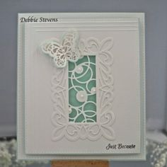 Just Because by Debbie using Sue Wilson mini striplet collection- intertwining circles die