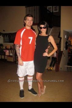 Hilarious Celebrity Couple Costume…The Beckhams!... This website is the Pinterest of costumes