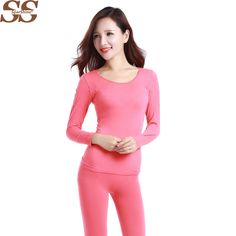 2016 New Thermal Underwear Sets Thin Section Seamless Sculpting Antibacterial Warm Long Johns Shaped Thermal Underwear Women