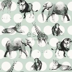 non-woven wallpaper animals collection Everybody Bonjour ESTAhome.nl