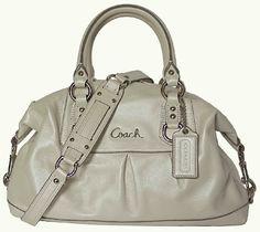 Coach Leather Ashley Sabrina Satchel Duffle Bag Purse Tote 15445 (Platium)