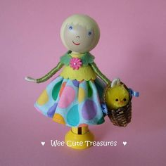 Idea for an Easter clothes peg doll :-)