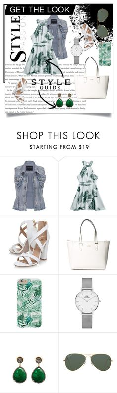 """""""Get the look (leaf romper)"""" by karakpratt ❤ liked on Polyvore featuring maurices, Miss KG, GUESS, Daniel Wellington, Liv Oliver and Ray-Ban"""