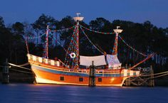 The Elizabeth II at Roanoke Island Festival Park is ablaze with Christmas lights for the first time for the 2013 holiday season!