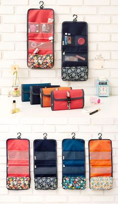 Be a smart and well organized traveler! Carry toiletries in this functional bag and use them more conveniently.