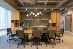 Kontra Architecture were tasked with the design for the shared offices of Kolektif House coworking and Vodafone's IT department located in Istanbul, Office Design Concepts, Office Space Design, Office Spaces, Warehouse Office, Innovative Office, Train Room, Shared Office, Built In Furniture, Architecture Office
