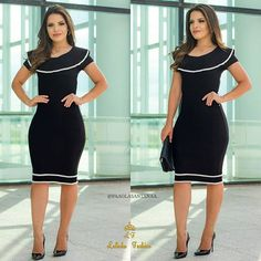 Swans Style is the top online fashion store for women. Shop sexy club dresses, jeans, shoes, bodysuits, skirts and more. Work Fashion, Fashion Outfits, Womens Fashion, Fashion News, Cute Dresses, Dresses For Work, Dress Skirt, Dress Up, Look Office