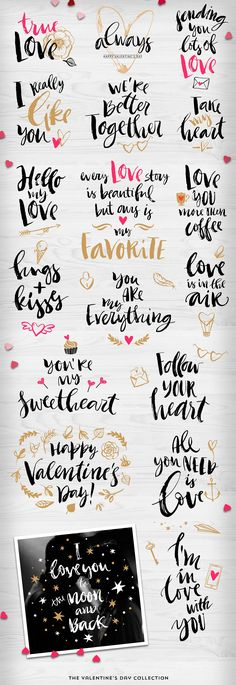 Valentine's day gift tags & overlays by kite-kit on @creativemarket