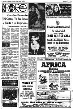 Entrevista a Juanita Reverón. Publicado el 23 de agosto de 1972.