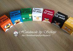Handmade by Sofietje: Help!!! Een tiener in huis.... #traktatie # Angrybirds #giftbox