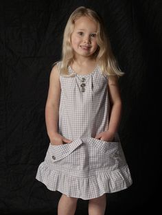 Bunnies Picnic - Blu Pony Vintage Elisabeth Dress sz 2 only - Boutique Clothing for Girls and Boys Cute Little Girl Dresses, Cute Outfits For Kids, Baby Girl Dresses, Frock Patterns, Baby Girl Dress Patterns, Kids Dress Wear, Play Dress, Baby Frocks Designs, Sewing Kids Clothes