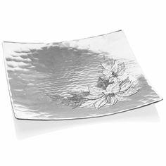 """Poinsettia 10"""" Square Plate"""