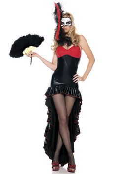 Be Wicked Mysterious Dancer Costume is perfect for a little mystery and get men interested. Wanting to see under that mask (and dress) will heighten their curiosity and attract them like bees to honey.