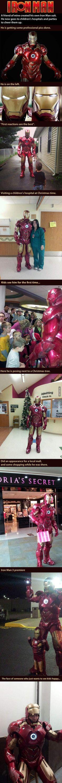 Iron man with a heart: Kinda looks like one of the Phelps twins.