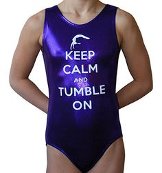 Gymnastics Leotard made with beautiful Deep Purple all over foil Mystique…