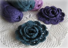 """""""The Craft Group"""" plus...: Rolled Rose - Crocheted Flower No.2"""