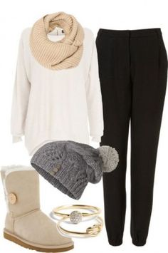 White sweater / Winter Outfits