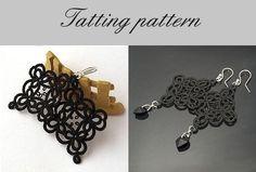 "Tatting Pattern, tatted lace earrings pattern, ""Lace Squares"" - PDF file. $3.25, via Etsy."