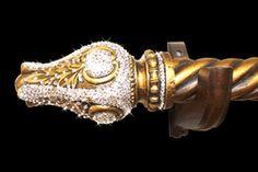 Victorian crystal finial