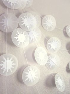 Paper Garland  Winter's Breath by ArtsDelight on Etsy