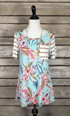 41b5a7fd1dfd Kim Rogers® Plus Size Kurta Printed Short Sleeve Tunic in 2019 ...