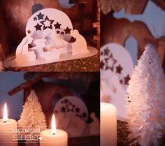 crèche kirigami imprimable Last Christmas, Christmas Paper, Homemade Christmas, Christmas Holidays, Christmas Decorations, Xmas, Kirigami, Christmas Destinations, Paper Pop