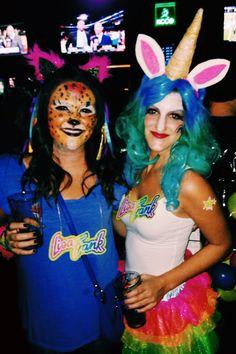 Lisa Frank Halloween Costumes! #friends #unicorn #leopard #costumes #DIY #lisafrank