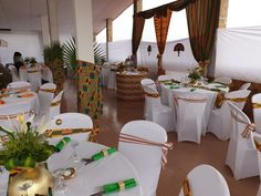 African wedding by atouts event &services Wedding Reception Layout, Wedding Reception Decorations, Table Decorations, Wedding Ideas, African Wedding Theme, African Theme, Event Services, Event Venues, Africa Theme Party