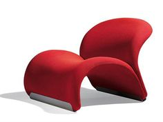 Upholstered Fabric Armchair LE CHAT by Artifort   Design by Pierre Paulin (1967)