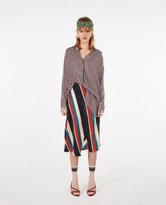ZARA - レディース - ストライプオーバーサイズシャツ Zara Outfit, Oversized Striped Shirt, Zara New, My Style, Sweatshirts, Zara Clothes, Shopping, Reformation, Collection