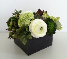 Floral Arrangement - Spring White/Green. $55.00, via Etsy.
