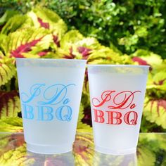 100 Custom I Do BBQ Shatterproof Party Cups By GraciousBridal
