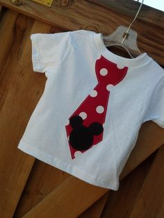 Mickey Mouse tie shirt. Available newborn through 7/8. Matching girls dress available.. $18.00, via Etsy.