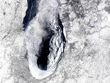 The latest arctic outbreak, with morning low temperatures at record cold levels, has caused the Great Lakes to rapidly ice back up.