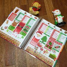 Christmas planner spread