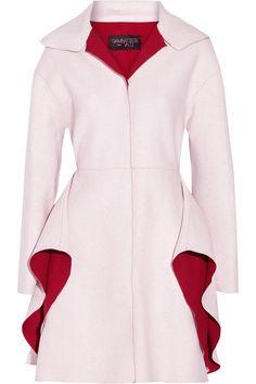 Giambattista ValliTwo-tone wool-blend coat