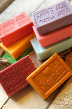 marseille de provence --love the soap stamp