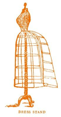 Wire dress frame graphic