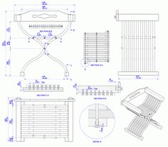 Chair Plans. This site has lots of free plans for all sorts of things!
