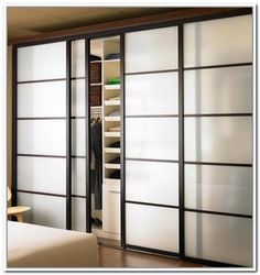 Frosted Glass Bifold Closet Doors