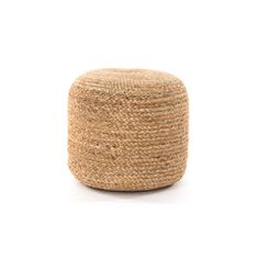 No. 5  +  Natural jute is braided into a softly-shaped pouf, bringing a touch of texture and handy extra seat or surface to any space. Great solo or in pairs.