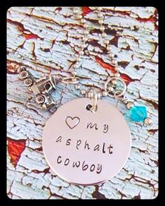 Hey, I found this really awesome Etsy listing at https://www.etsy.com/listing/206056129/handstamped-love-my-asphalt-cowboy-truck